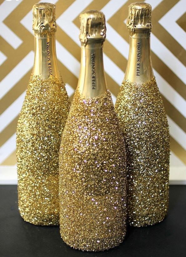 Украсить шампанское к новому году своими руками фото