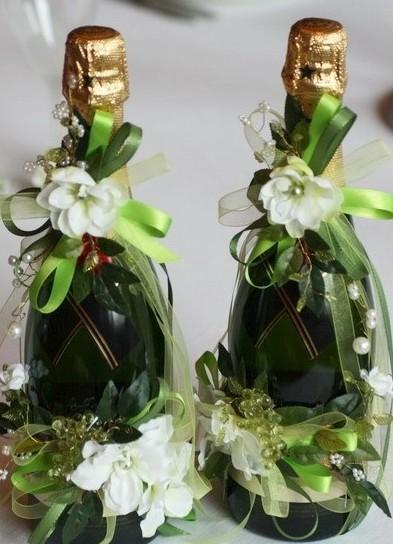 Шить мастер класс на свадьбу украшение шампанское фото #3