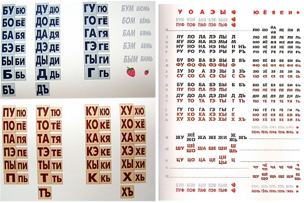 таблица слогов зайцева картинки