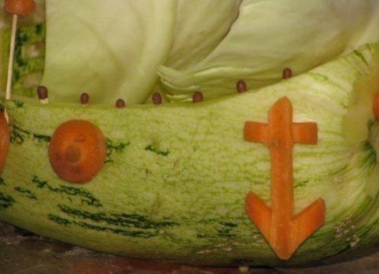 Корабль из овощей мастер класс