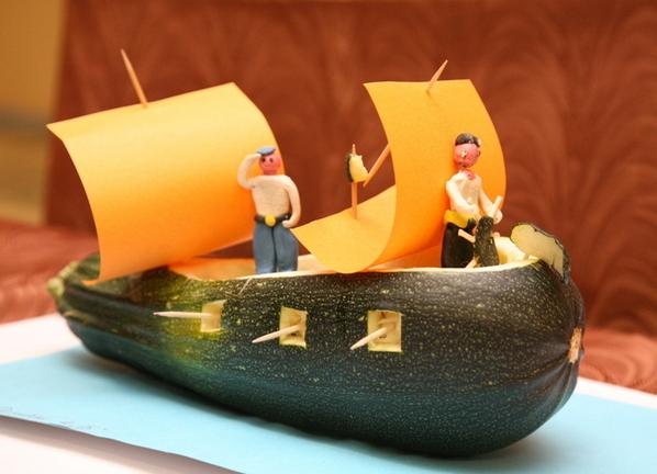 Как делать поделки из одного кабачка
