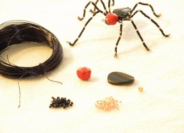 паук из бисера 1