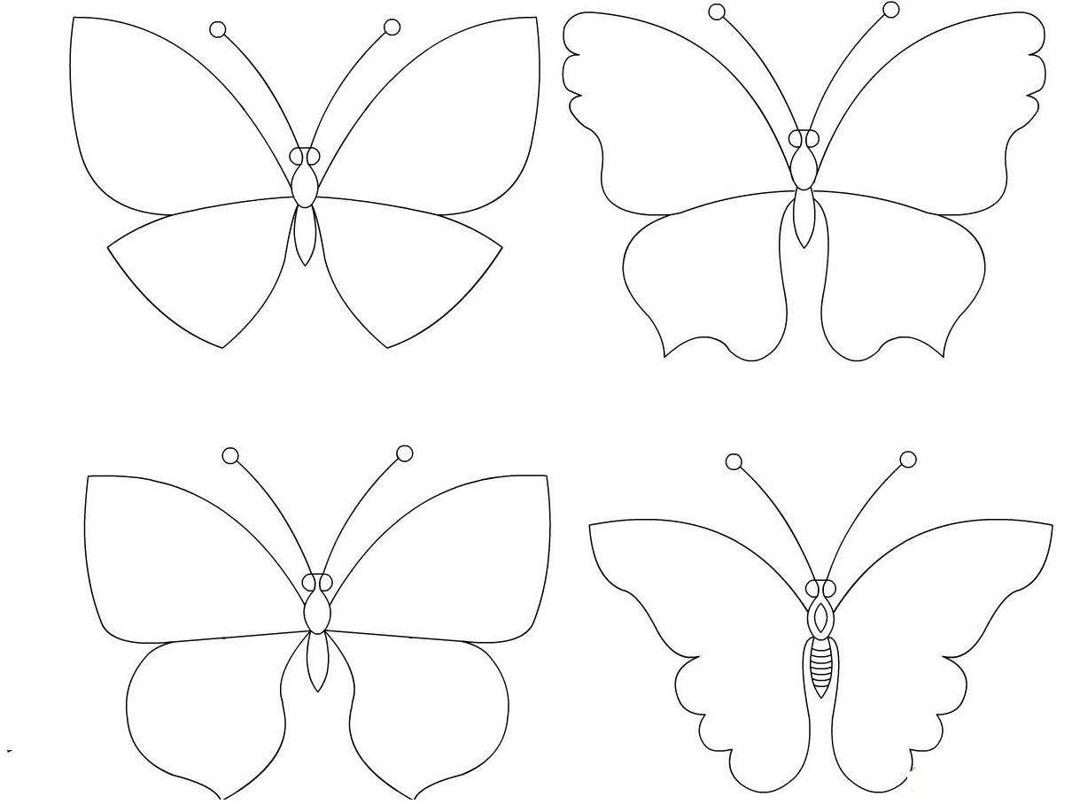 Как сделать трафарет своими руками бабочки или цветы