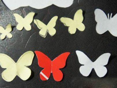 Бабочки настенные своими руками