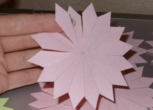 Астра из бумаги своими руками пошаговое фото