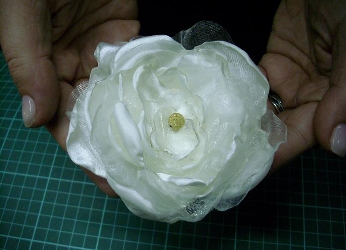 Цветы из органзы-мастер класс