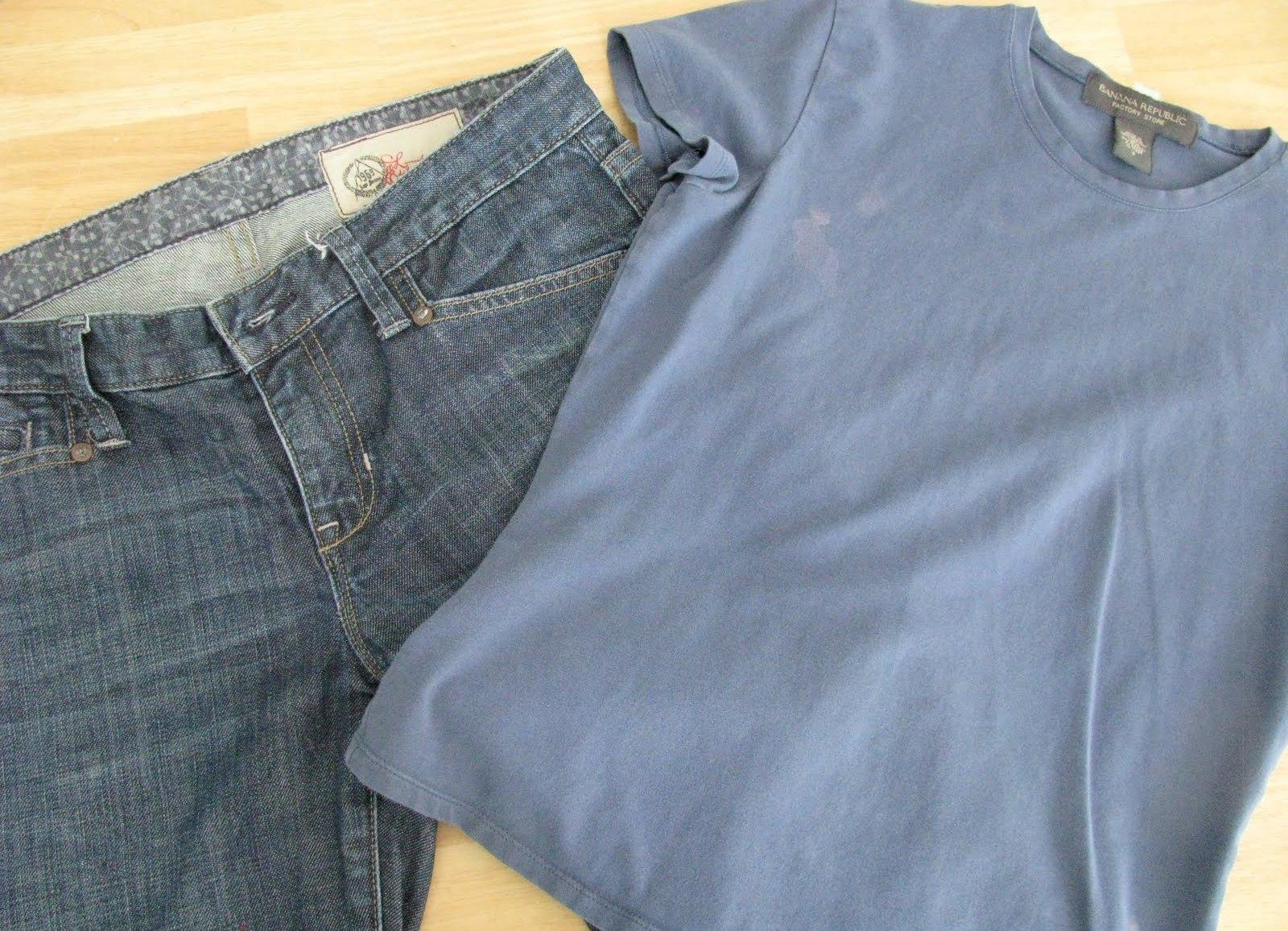 Как переделать штаны для беременных своими руками