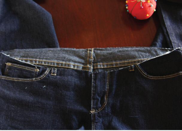 Как перешить джинсы в джинсы для беременных своими руками 77