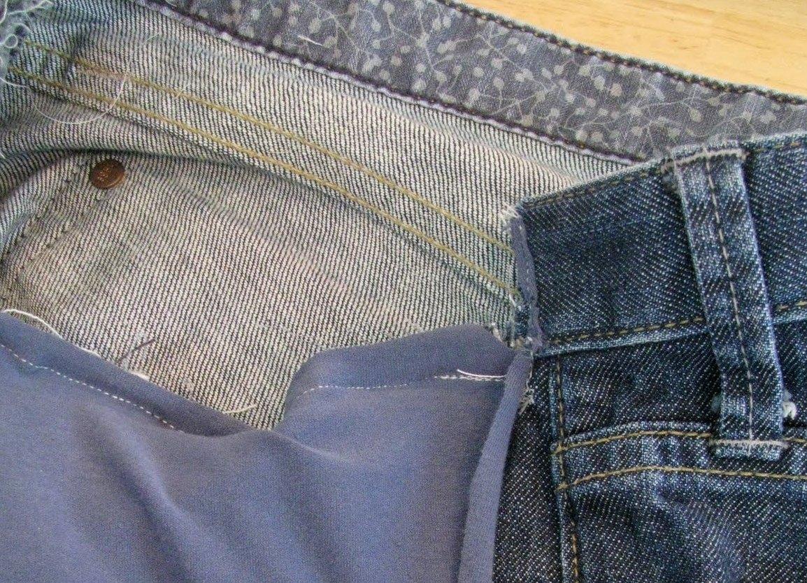 Шьём джинсы для беременных 36
