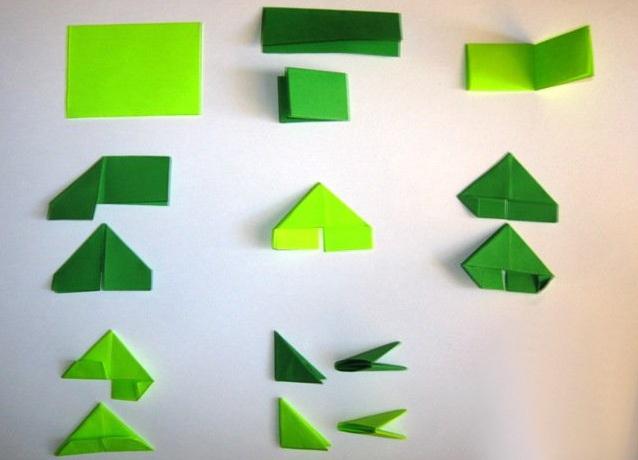 Модуль оригами из бумаги схемы