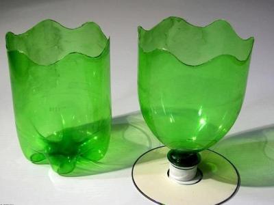 Горшок для цветов своими руками из пластиковых бутылок для цветов