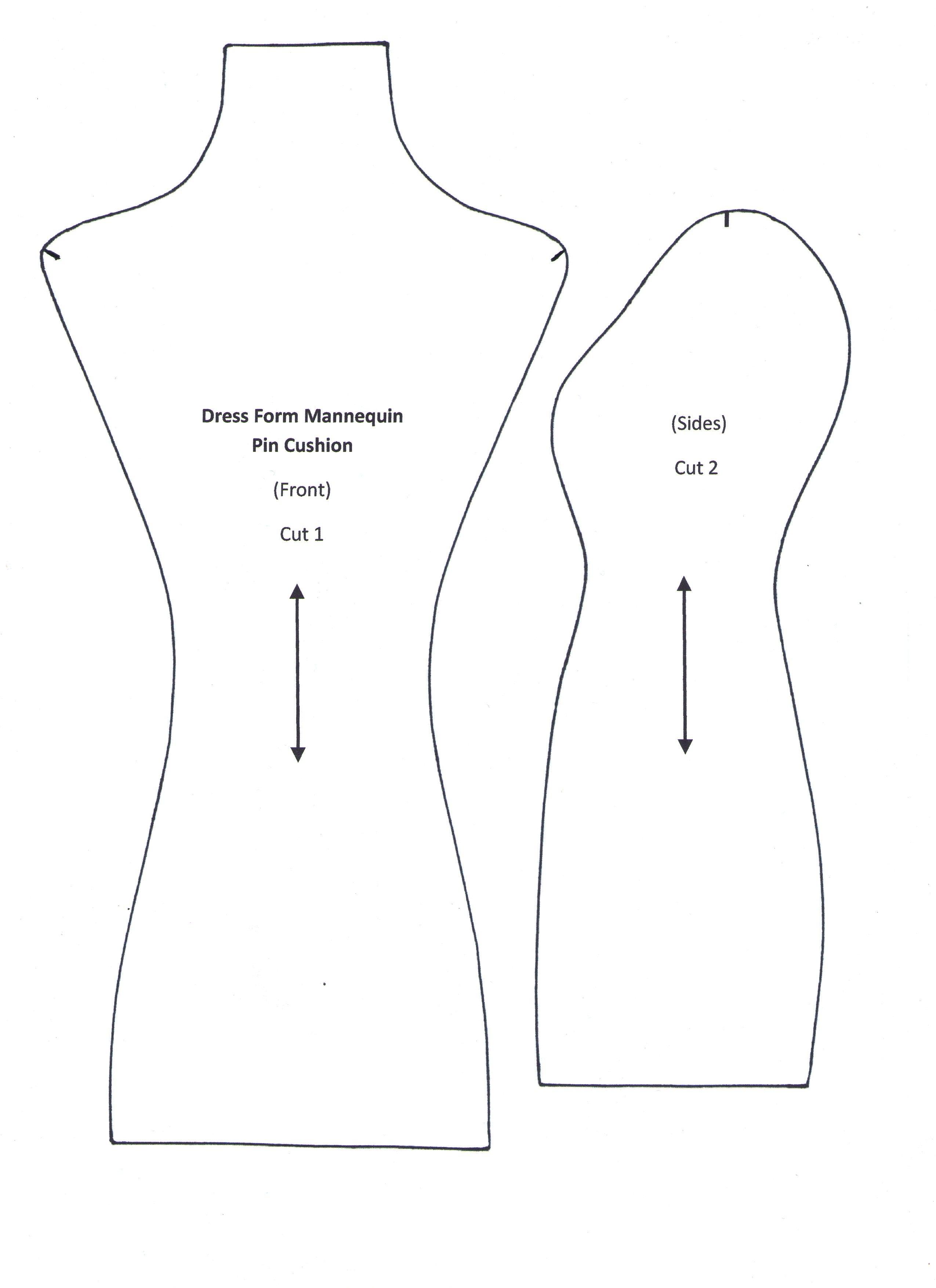Выкройка манекена игольницы