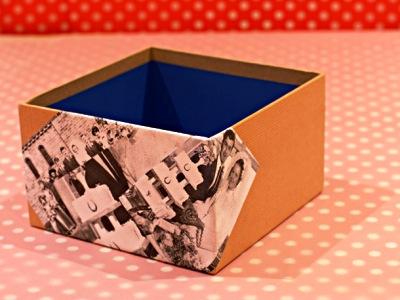 Как украсить обувную коробку