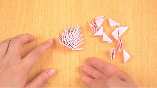 Фото как сделать оригами лебедя из бумаги