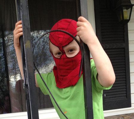 Человек паук маска своими руками