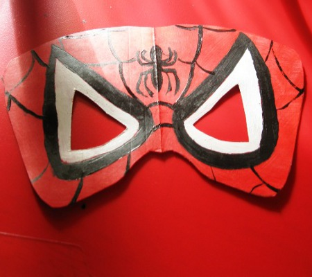 Маска человека паука сделать своими руками 132