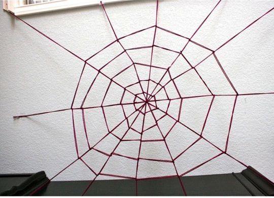Как сделать паутину из верёвок