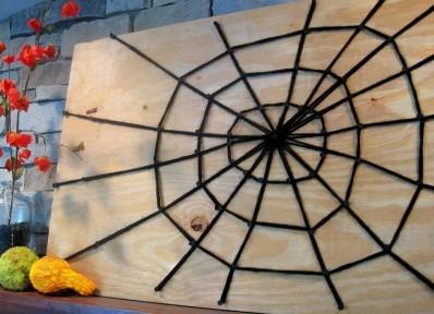 Паутина с пауком своими руками