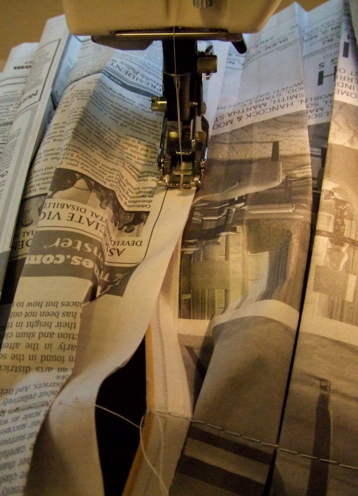 Платья из газет как делать