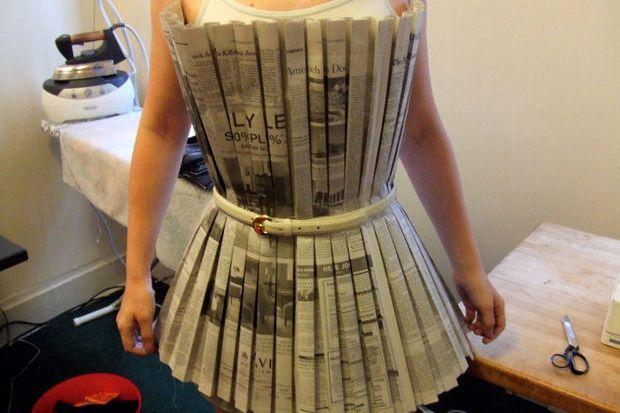 Платья сделанные из газет своими руками