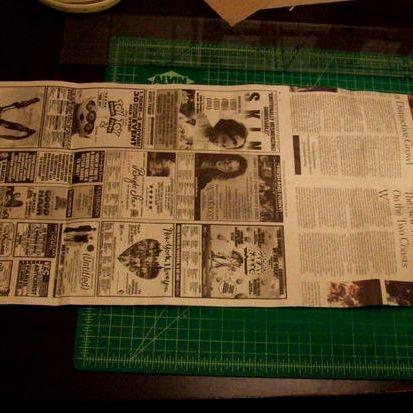 Как сделать маникюр с надписью из газет 138