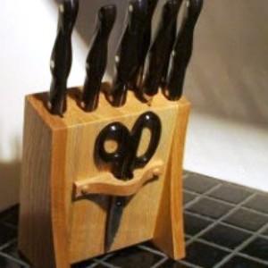 Подставка для ножей из дерева своими руками фото