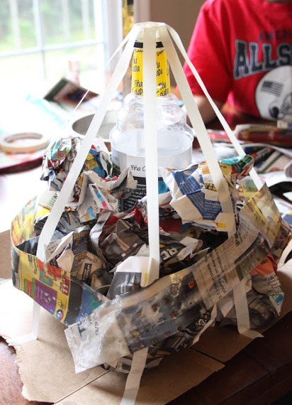 Как сделать вулкан из бумаги из