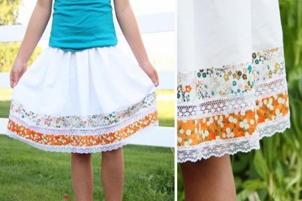 Удлинить платье с помощью пояса