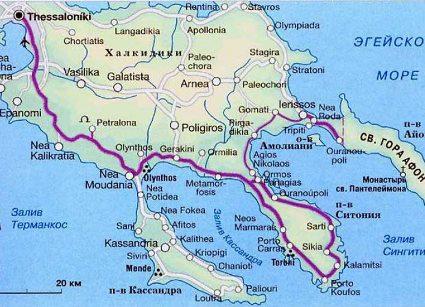 Салоники карта яндекс