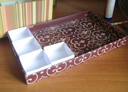 Органайзер для мелочей из картона своими руками