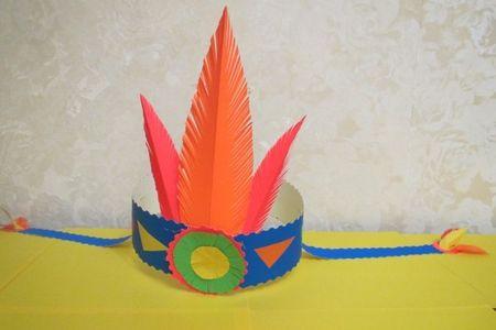 Головной убор у индейцев из перьев своими