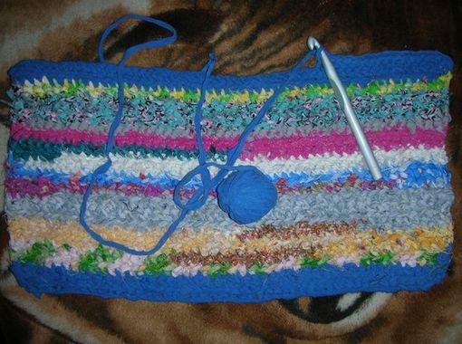 Коврики из лоскутков ткани своими руками крючком