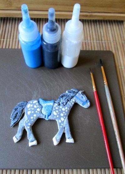 Поделка из соленого теста лошадь 13