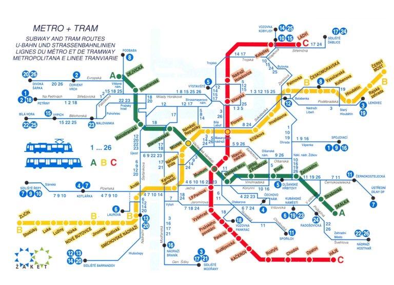 станций метро в Праге