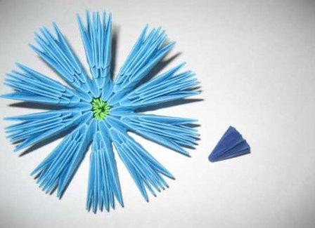 модульное оригами цветы мастер