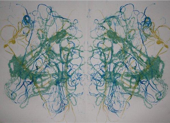 Нетрадиционные техники рисования. Ниткография