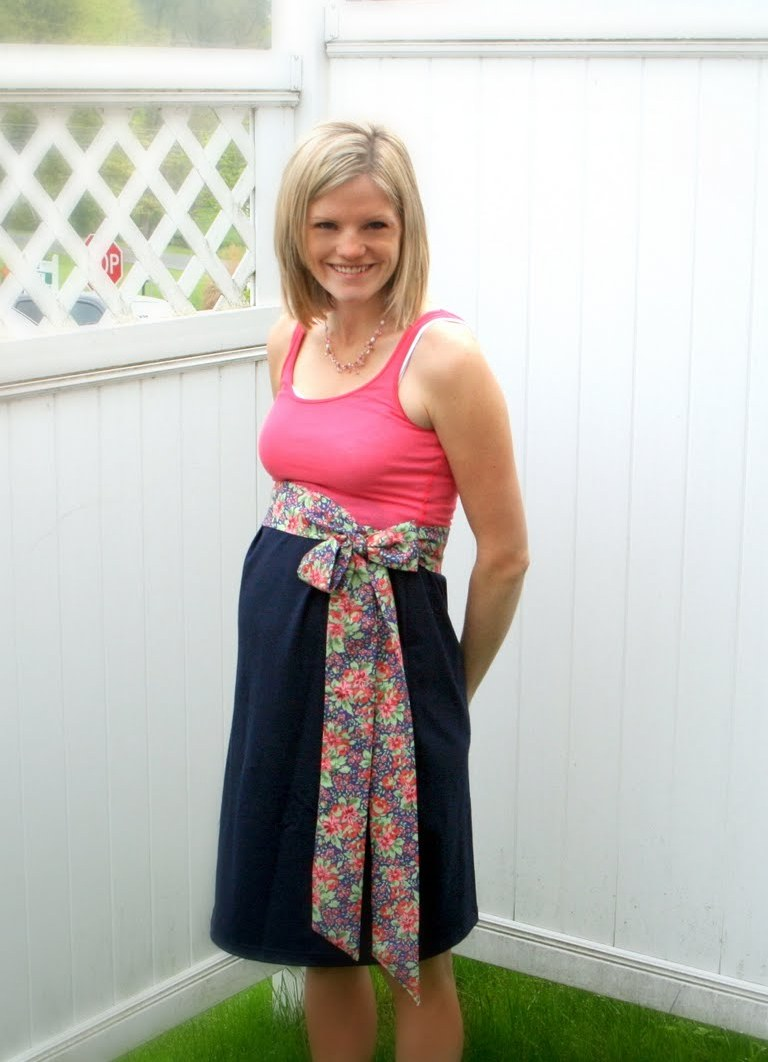 Легкое платье своими руками для беременных 49