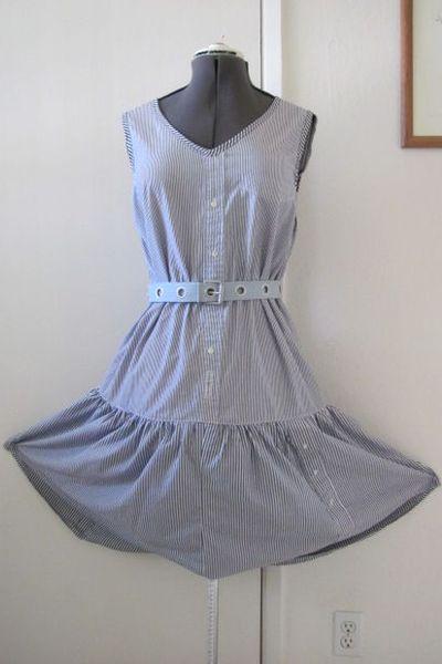 Платье из мужской рубашки54