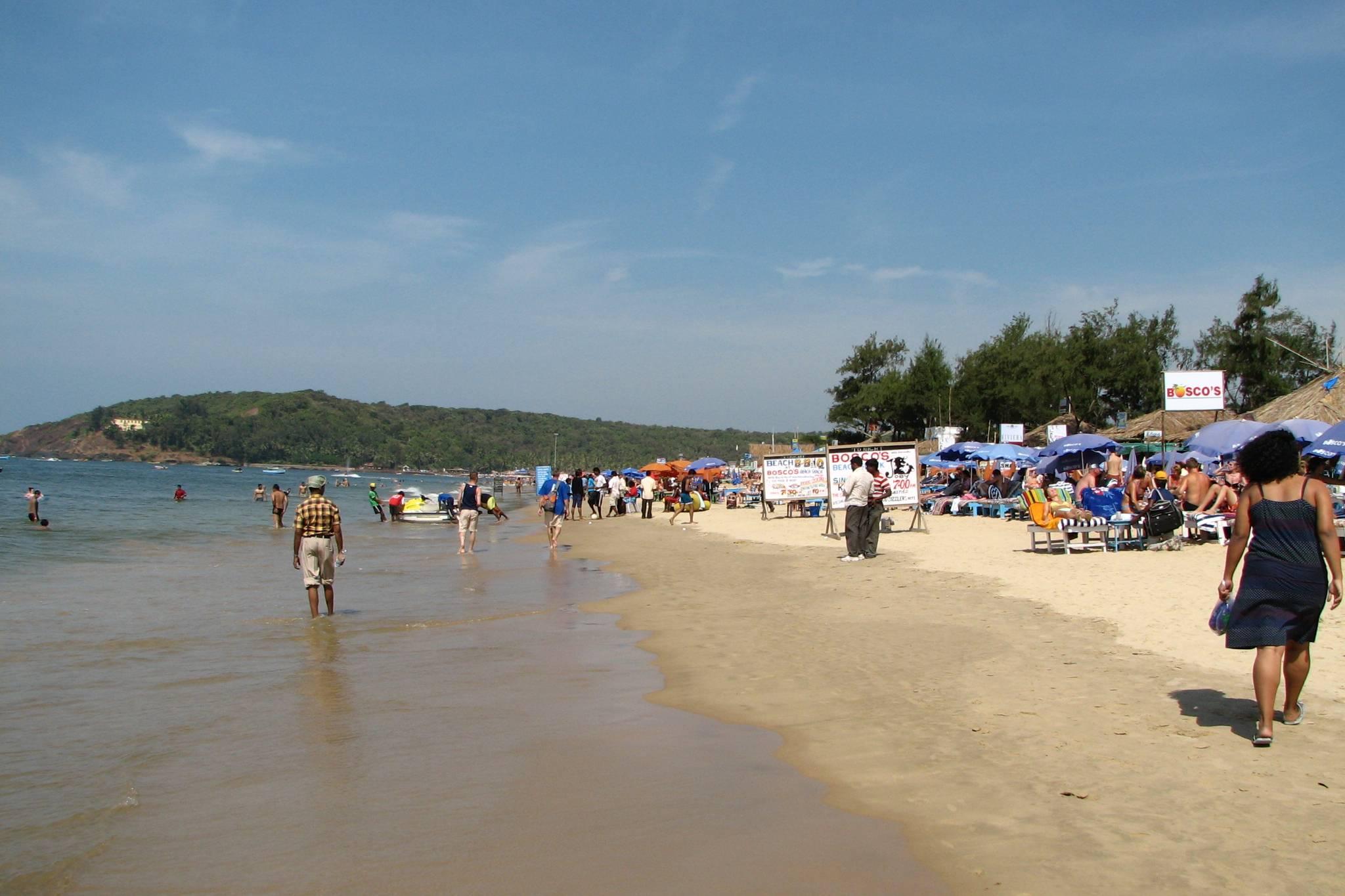 фото туристов пляжей гоа