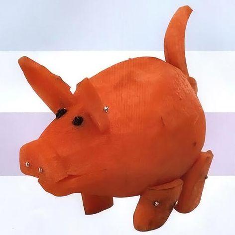 Поделка  из моркови