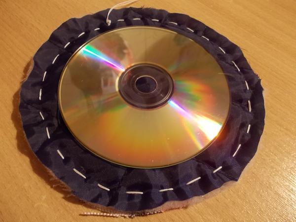 Подставки для горячего из дисков своими руками