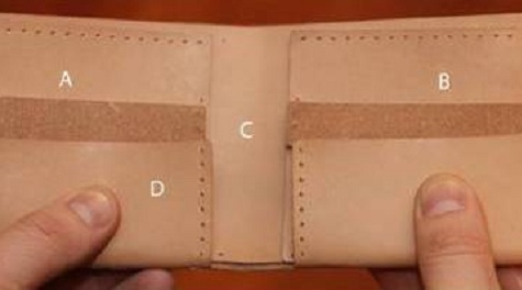 Как сшить в домашних условиях кошелек из кожи 82