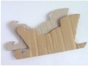Как сделать своими руками из картона сани