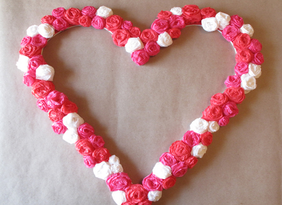Сердце объемное из салфеток своими руками