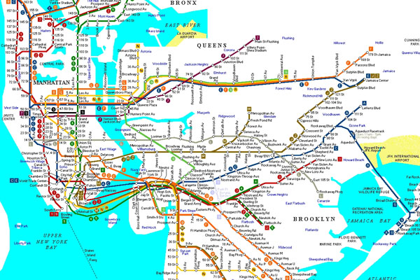 в метро в Нью-Йорке равна