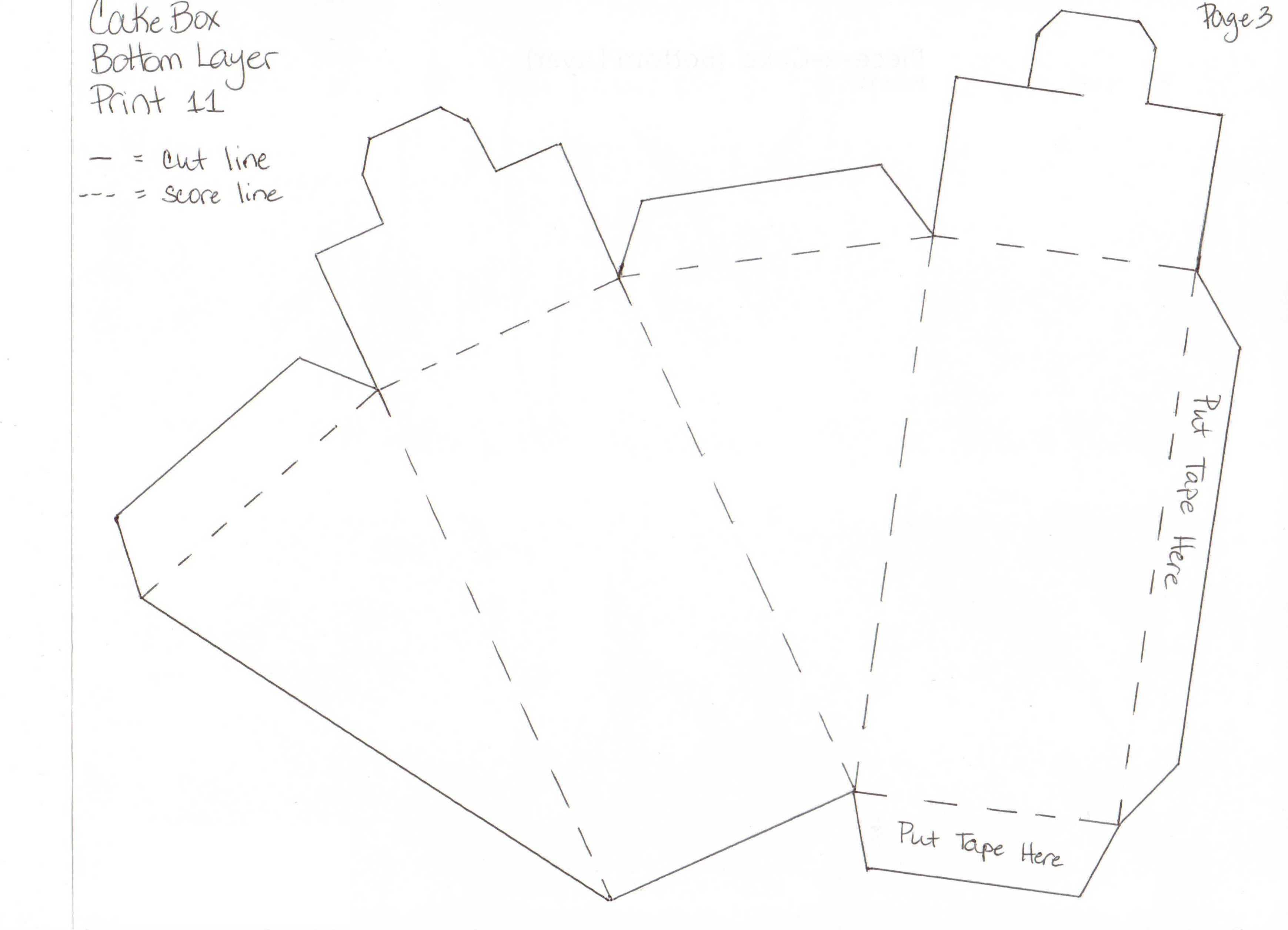 Шаблоны для торта из бумаги своими руками