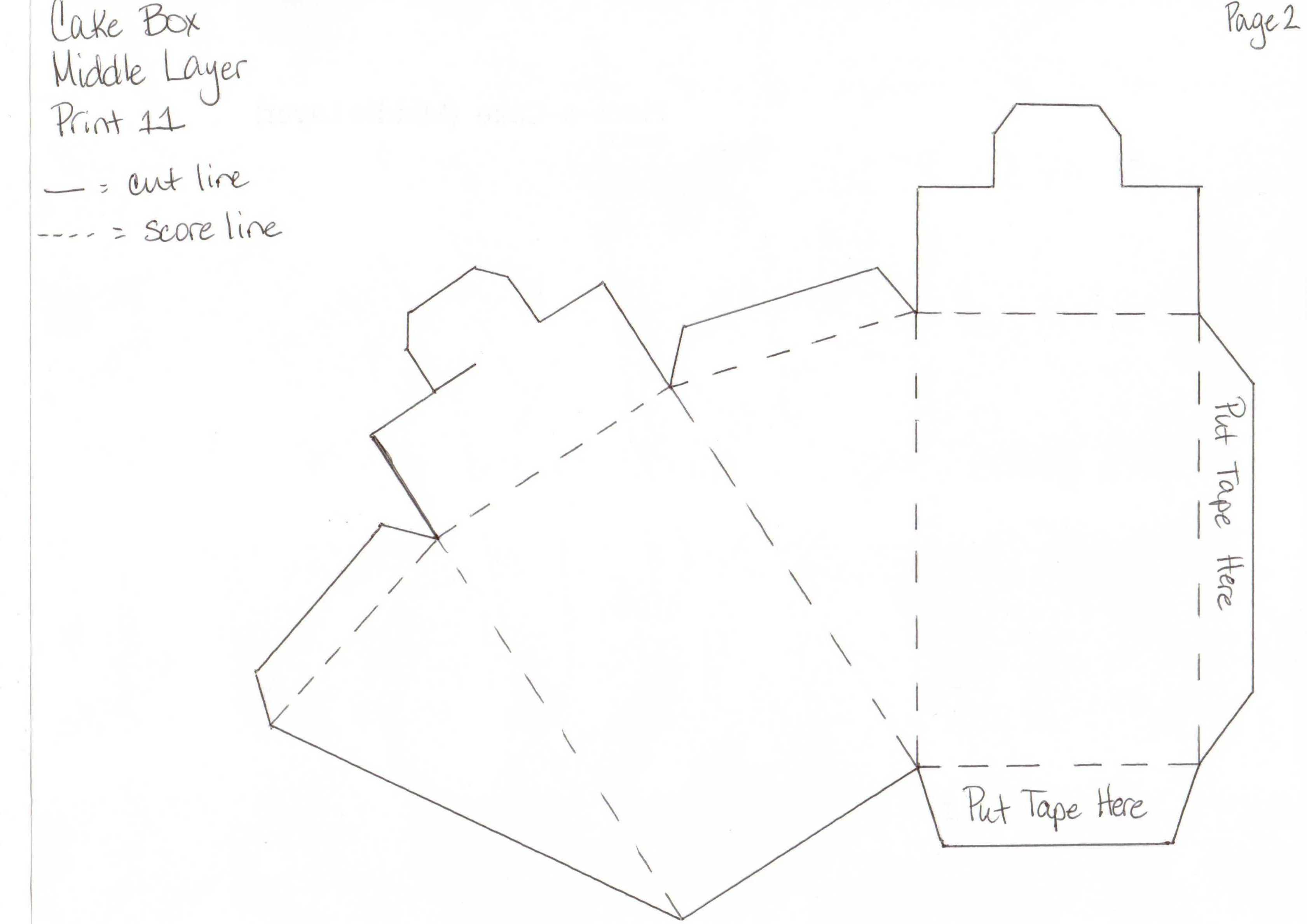 Как сделать коробку из картона для торта