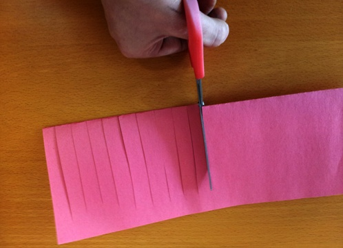 Как сделать фонарики из бумаги поэтапно
