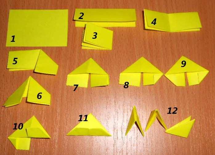 Легкие поделки из бумажных модулей