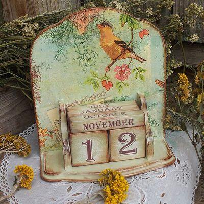 Вечный календарь своими руками декупаж
